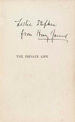 JAMES, Henry. The Private Life