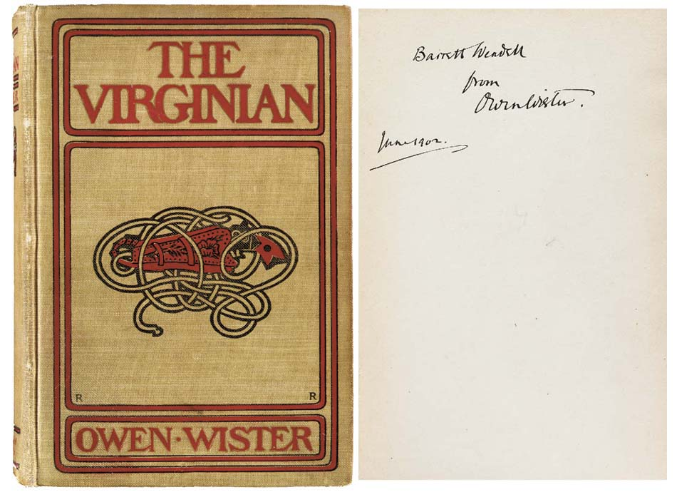 WISTER, Owen (1860-1938). The