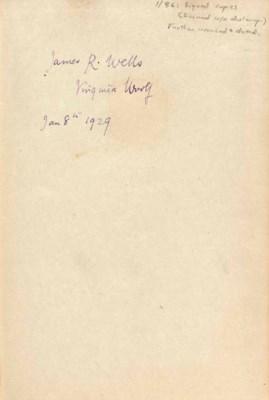 WOOLF, Virginia (1882-1941). O