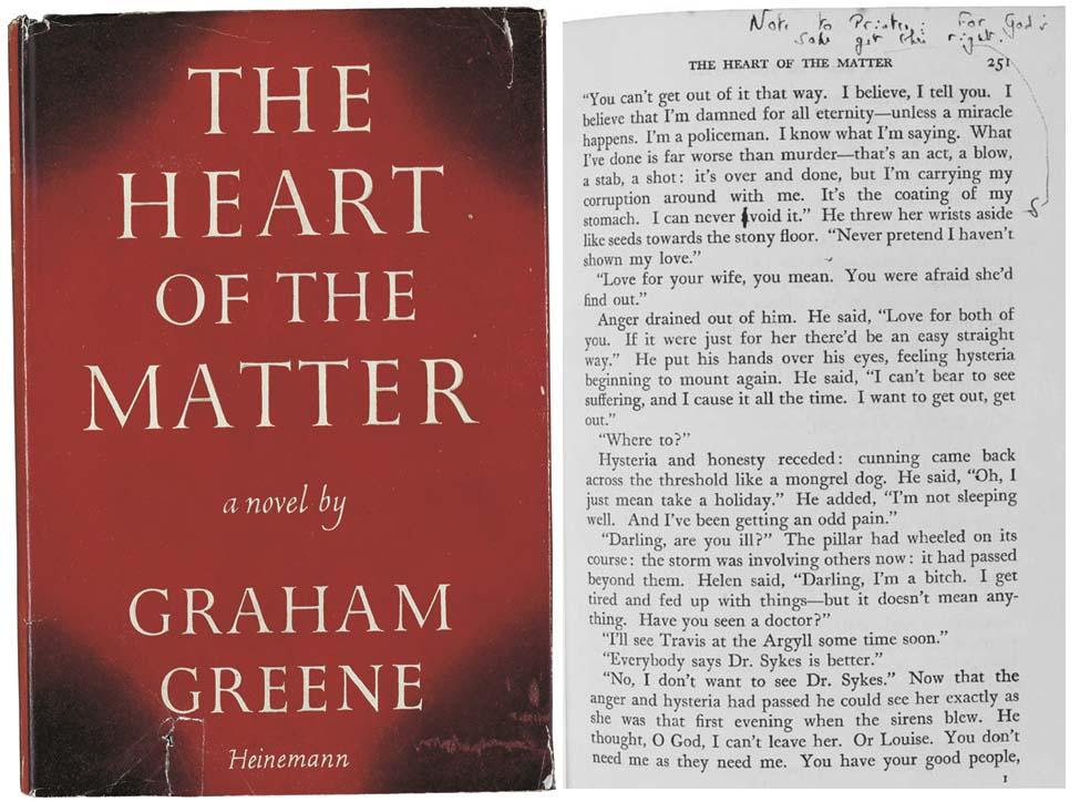 GREENE, Graham. The Heart of t