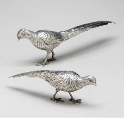 A PAIR OF CONTINENTAL SILVER P