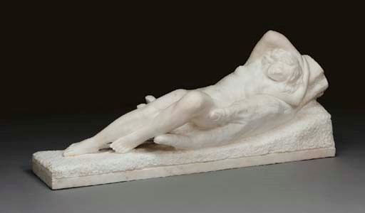 A white marble figure of a rec