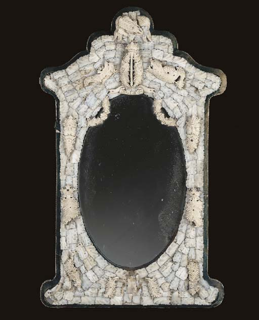 A Dieppe ivory mirror**,