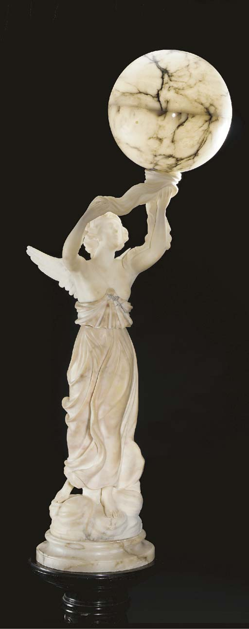 A Continental alabaster figura