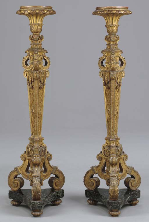 A PAIR OF LOUIS XIV STYLE GILT