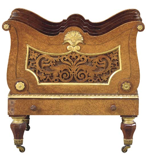 AN EARLY-VICTORIAN AMBOYNA AND