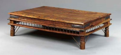 AN INDIAN TEAKWOOD LOW TABLE,
