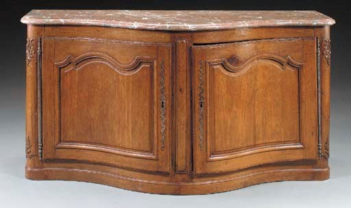 A LOUIS XV PROVINCIAL OAK BUFF