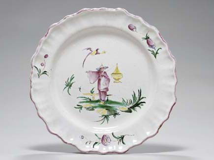 A FRENCH FAIENCE PLATE,
