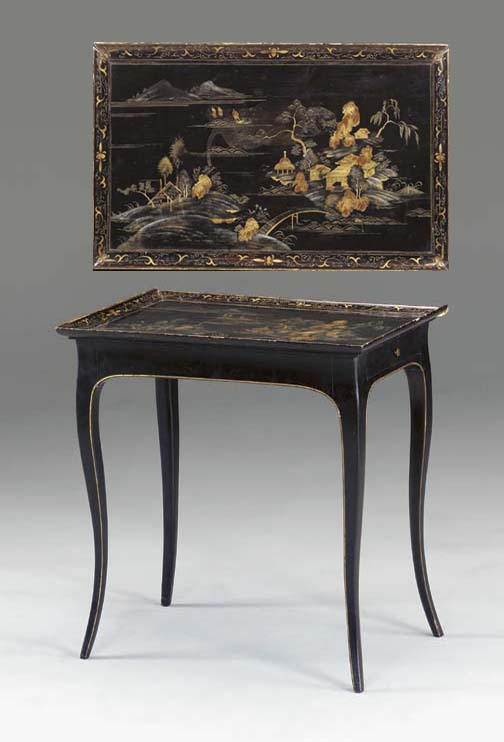 A ROYAL LOUIS XV CHINESE BLACK