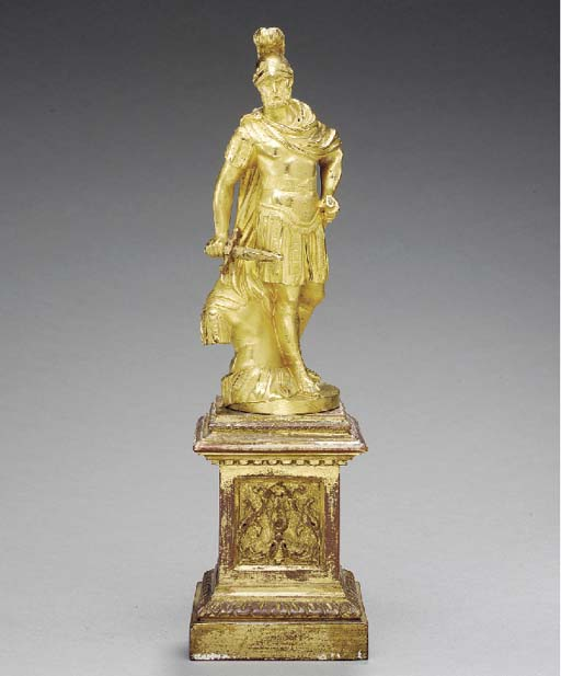 AN ITALIAN ORMOLU FIGURE OF A