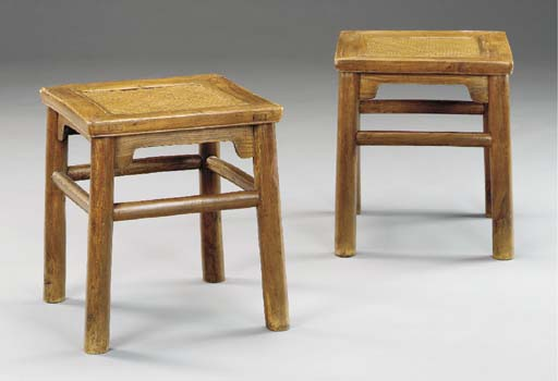 A PAIR OF CHINESE SOFTWOOD STO