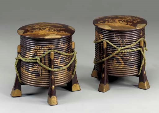 A Pair of Large Lacquer Storag