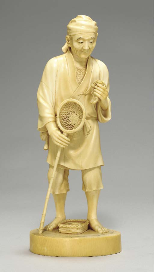 An Ivory Model Of A Fisherman*