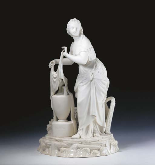 A BELLEEK PARIAN MODEL, 'ERIN