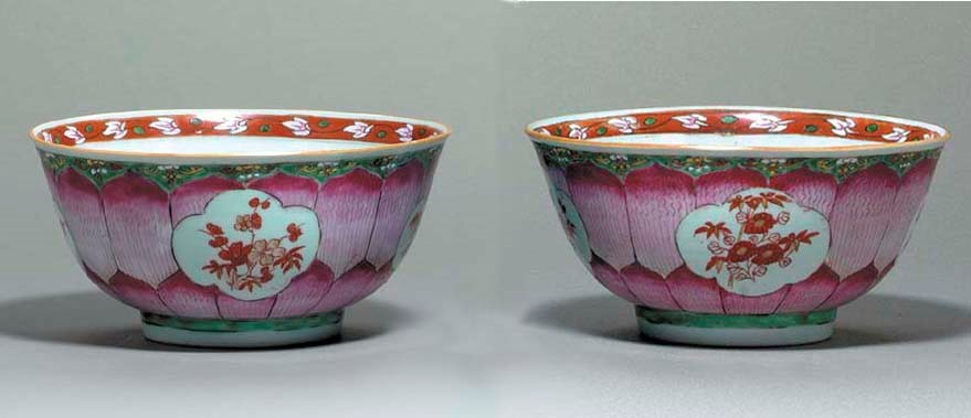 A SMALL PAIR OF CHINESE LOTUS