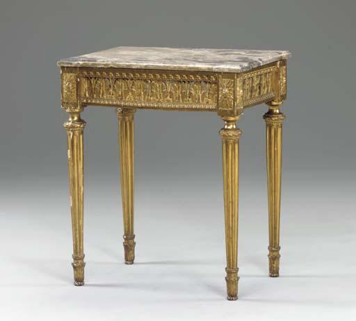 A LOUIS XVI GILTWOOD SIDE TABL