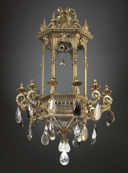 A PAIR OF BAROQUE STYLE BRASS