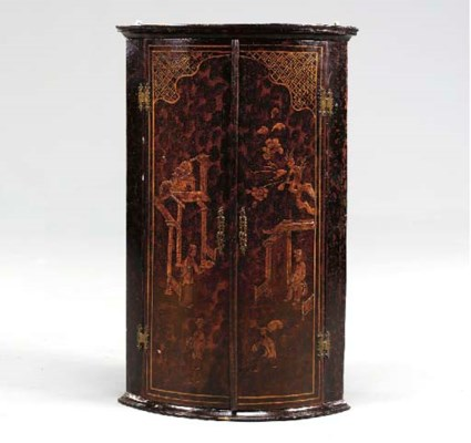 A QUEEN ANNE BLACK AND GILT-JA