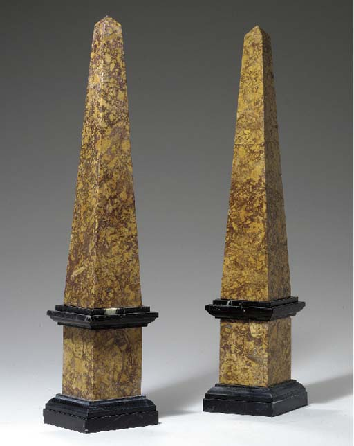 A PAIR OF SPANISH BROCATELLE A
