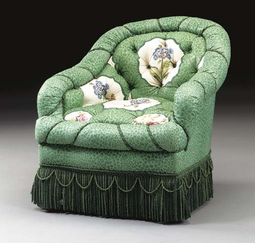 A VICTORIAN STYLE BERGERE