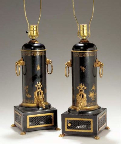 A PAIR OF GILT-METAL-MOUNTED B