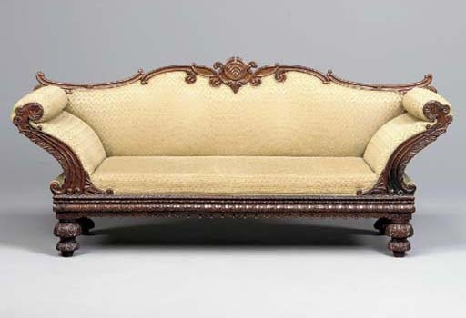 AN ANGLO-INDIAN ROSEWOOD SOFA,