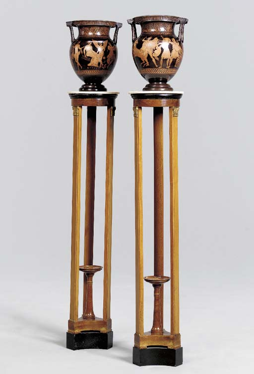 A PAIR OF GREEK STYLE TERRACOT