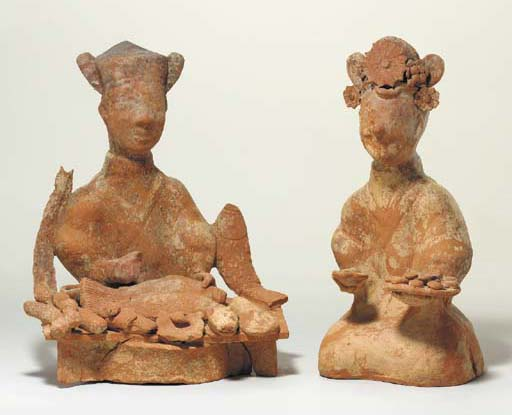 A PAIR OF SICHUAN RED POTTERY