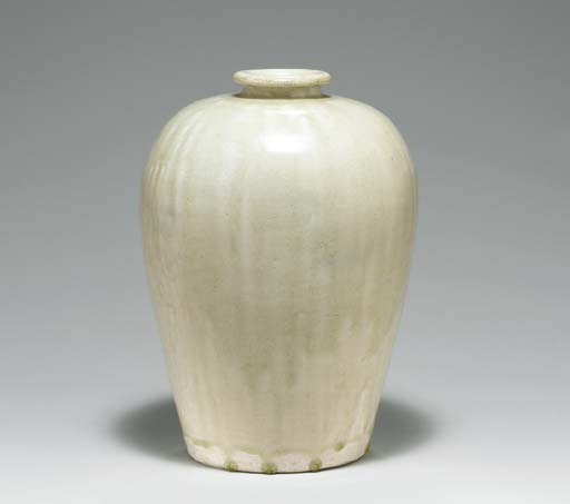 A PALE GREEN-GLAZED MEIPING