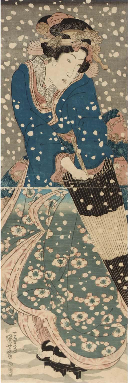 Kikugawa Eizan (1787-1867) Keisai Eisen (1790-1848) Utagawa Kuniyoshi (1798-1861)