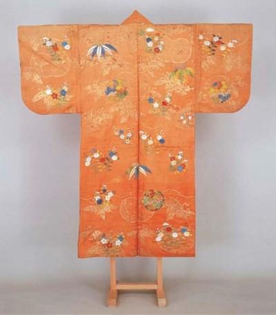 Noh costume (nuihaku) with flo