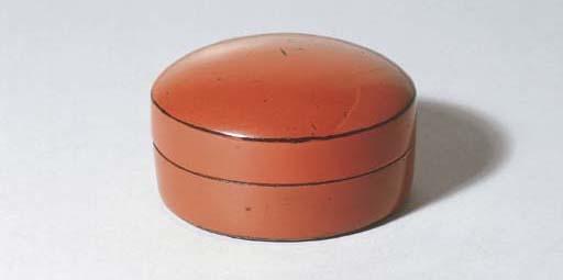 A Negoro Flat Tea Caddy (Hira-