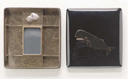 An Inlaid-Lacquer Writing Box (Suzuribako)**