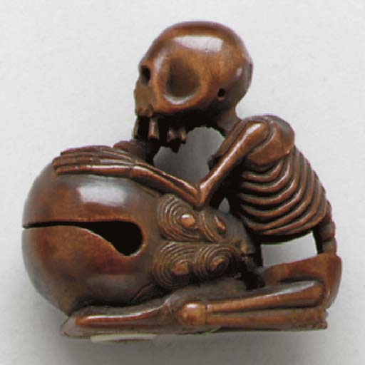 Two Wood Netsuke and an Ivory