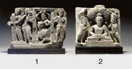 A Green Schist Frieze of Buddh