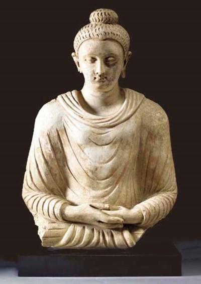 A Stucco Bust of Buddha