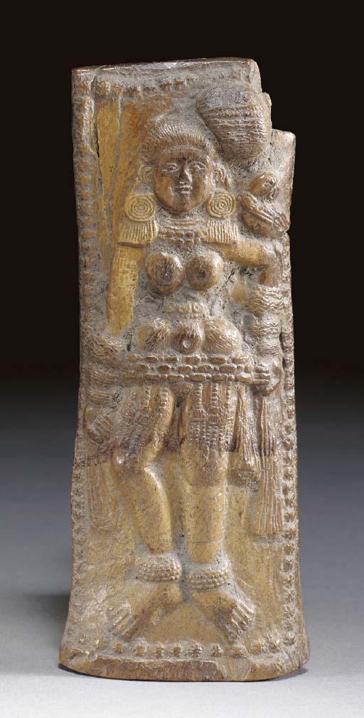 A Bone Plaque of a Devi**