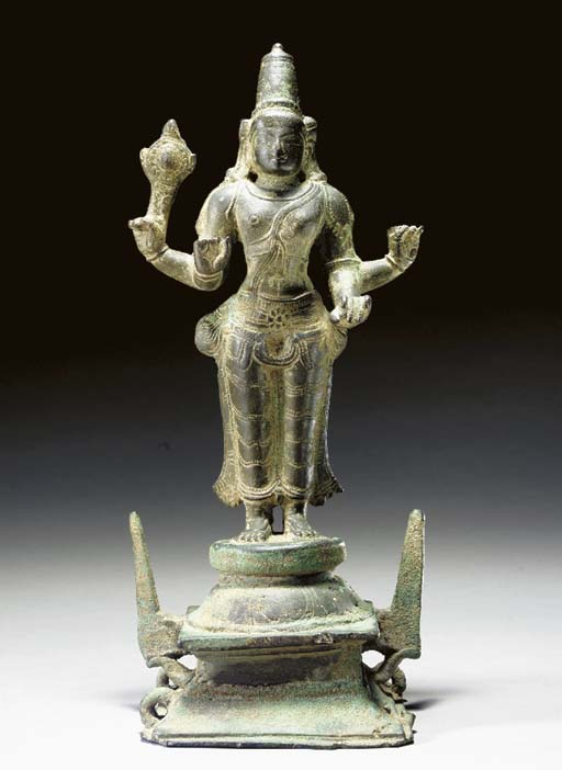 A Bronze Figure of Vishnu