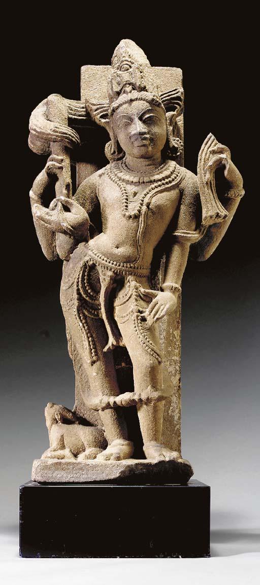 A Buff Sandstone Figure of Shiva