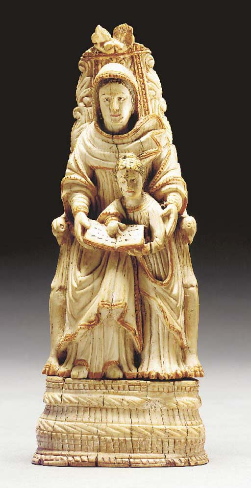 An Ivory Group of St. Anne and