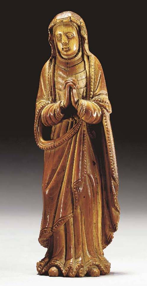An Ivory Figure of 'Our Lady of Sorrows'**