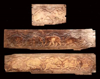Three Ivory Panels from a Jewe