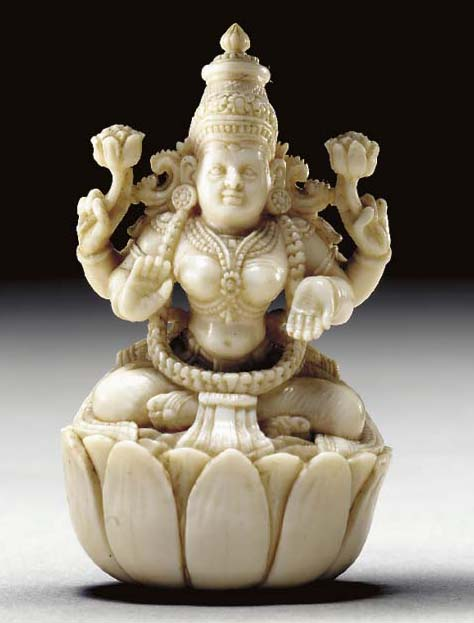A Small Ivory Figure of Devi**