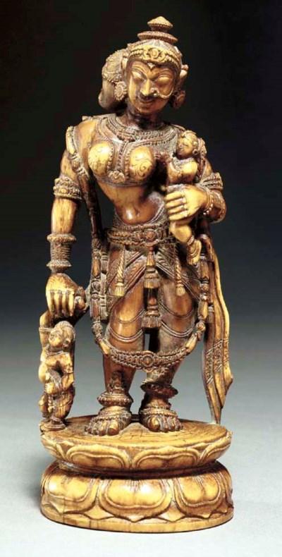 An Ivory Figure of Yashoda Hol