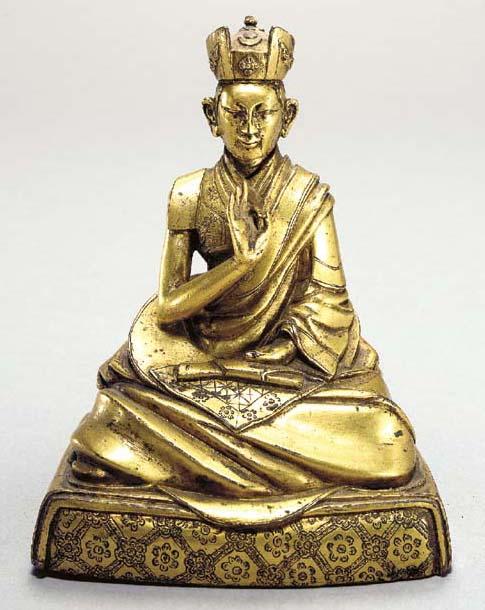 A Gilt Bronze Portrait Figure