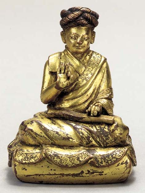 A Gilt Bronze Figure of Rigdze