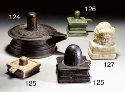 A Rare Marble Linga with Four