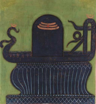 A Painting of a Linga and Yoni