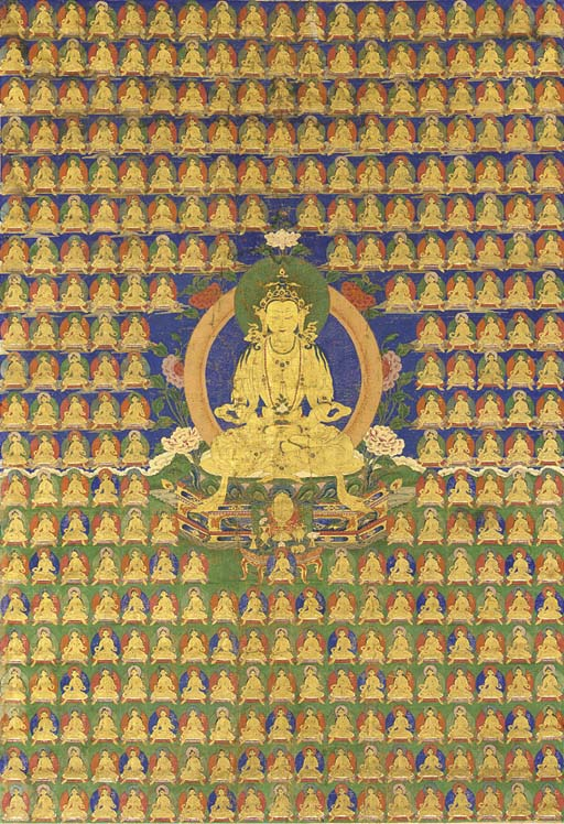 A Large Thangka of Amitayus